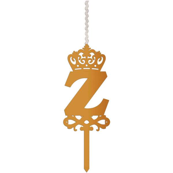 شمع تولد طرح حرف Z کد HMZ