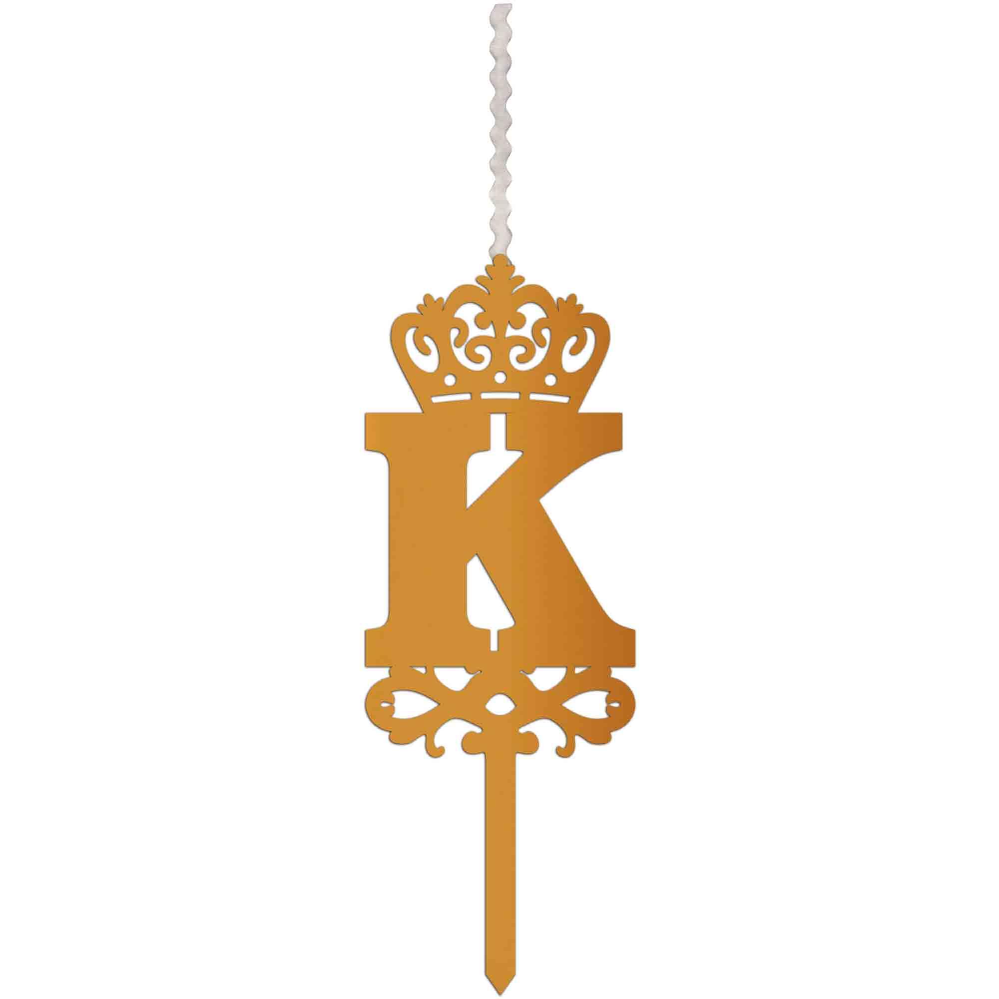 شمع تولد طرح حرف K کد HMK