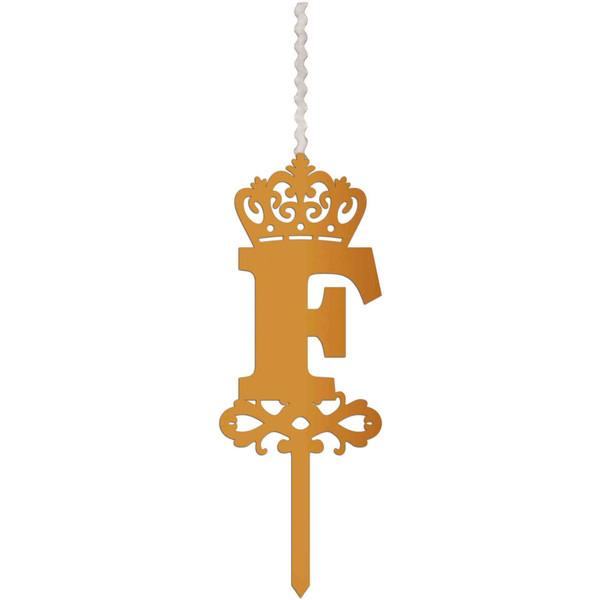 شمع تولد طرح حرف F کد HMF