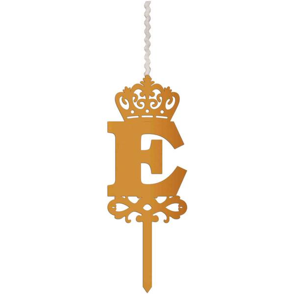 شمع تولد طرح حرف E کد HME