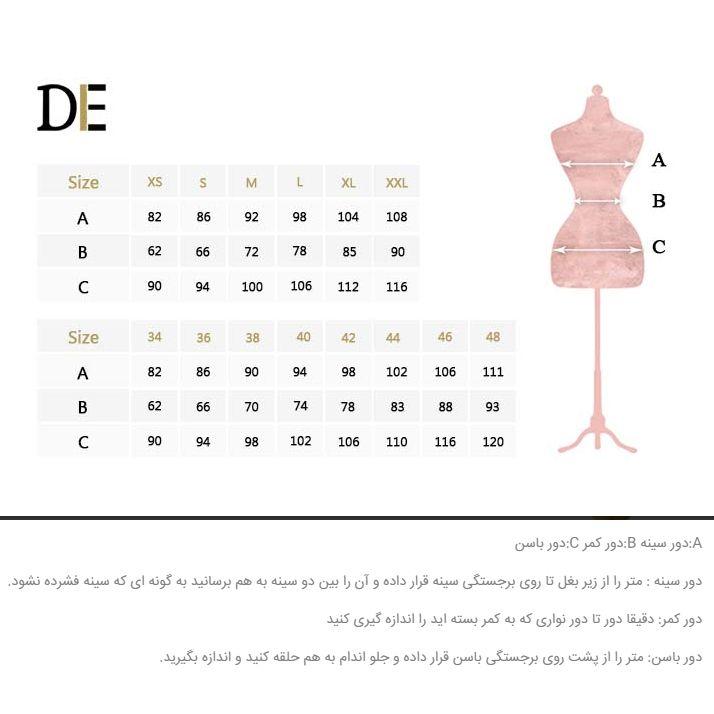 پیراهن زنانه درس ایگو کد 1010018 رنگ قرمز -  - 7