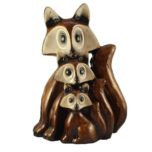 مجسمه طرح روباه مجموعه 3 عددی