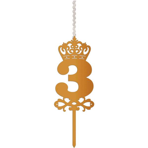 شمع تولد طرح عدد 3 کد AM3