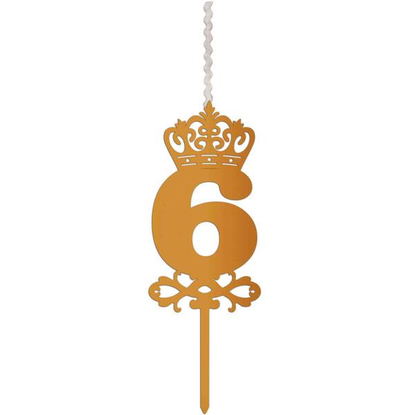 شمع تولد طرح عدد 6 کد AM6