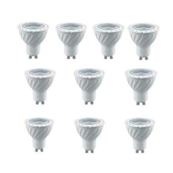 لامپ هالوژن ال ای دی 7 وات پارس شعاع توس مدل LNEW پایه GU10 بسته 10 عددی