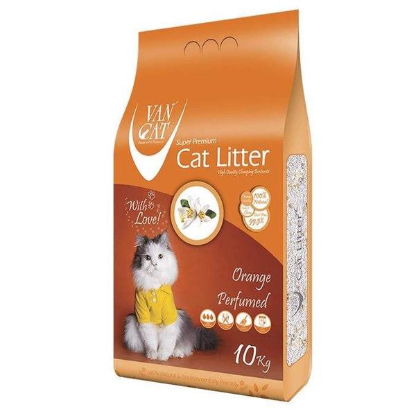 خاک گربه ون کت مدل orange perfumed وزن 10کیلوگرم