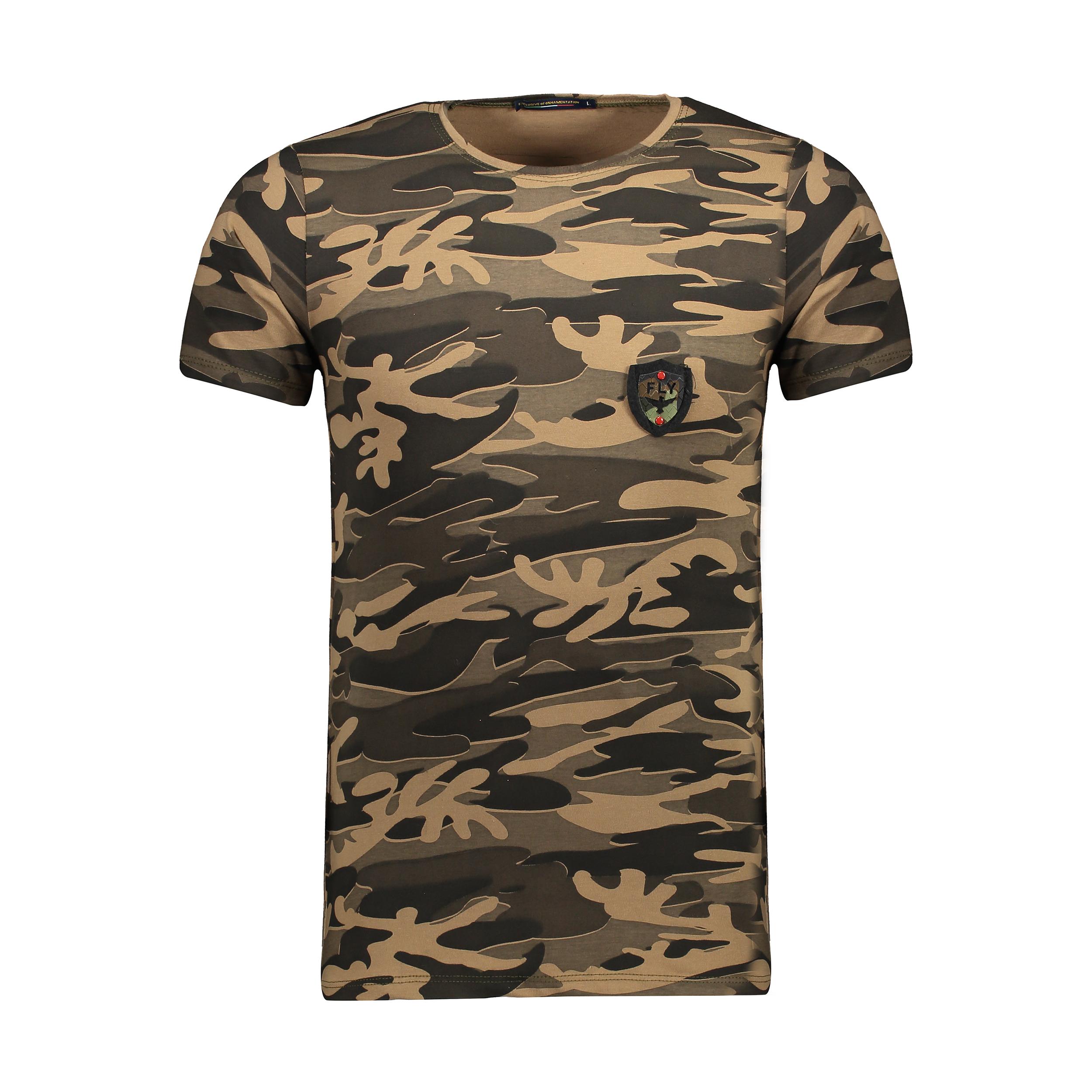 خرید ارزان تی شرت مردانه طرح چریکی کد T-CH3