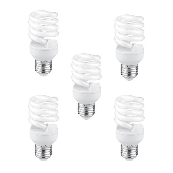 لامپ کم مصرف 11 وات لامپ نور مدل KHT پایه E27 بسته 5 عددی