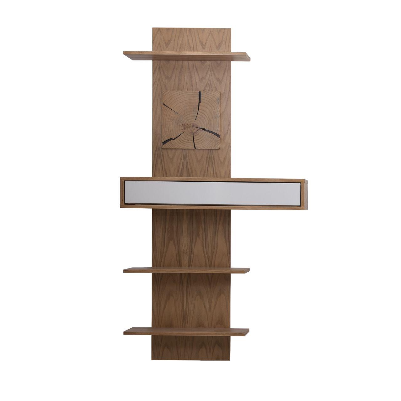 شلف دیواری صنایع چوبی آذرباد مدل نهال کد B313