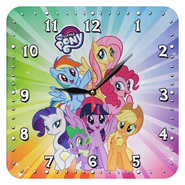 ساعت دیواری کودک طرح پونی کوچولو مدل 1074