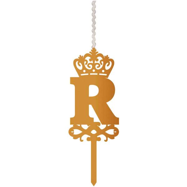 شمع تولد طرح حرف R کد HMR