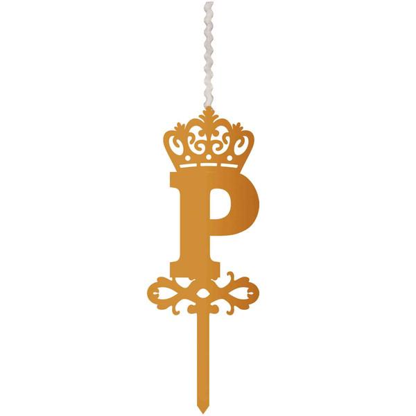 شمع تولد طرح حرف P کد HMP
