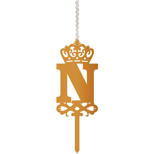شمع تولد طرح حرف N کد HMN