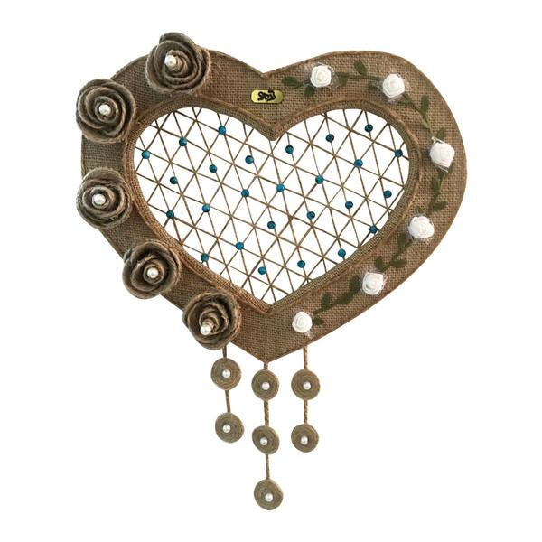 دیوارکوب تزئینی ترمه مدل Heart Flowers
