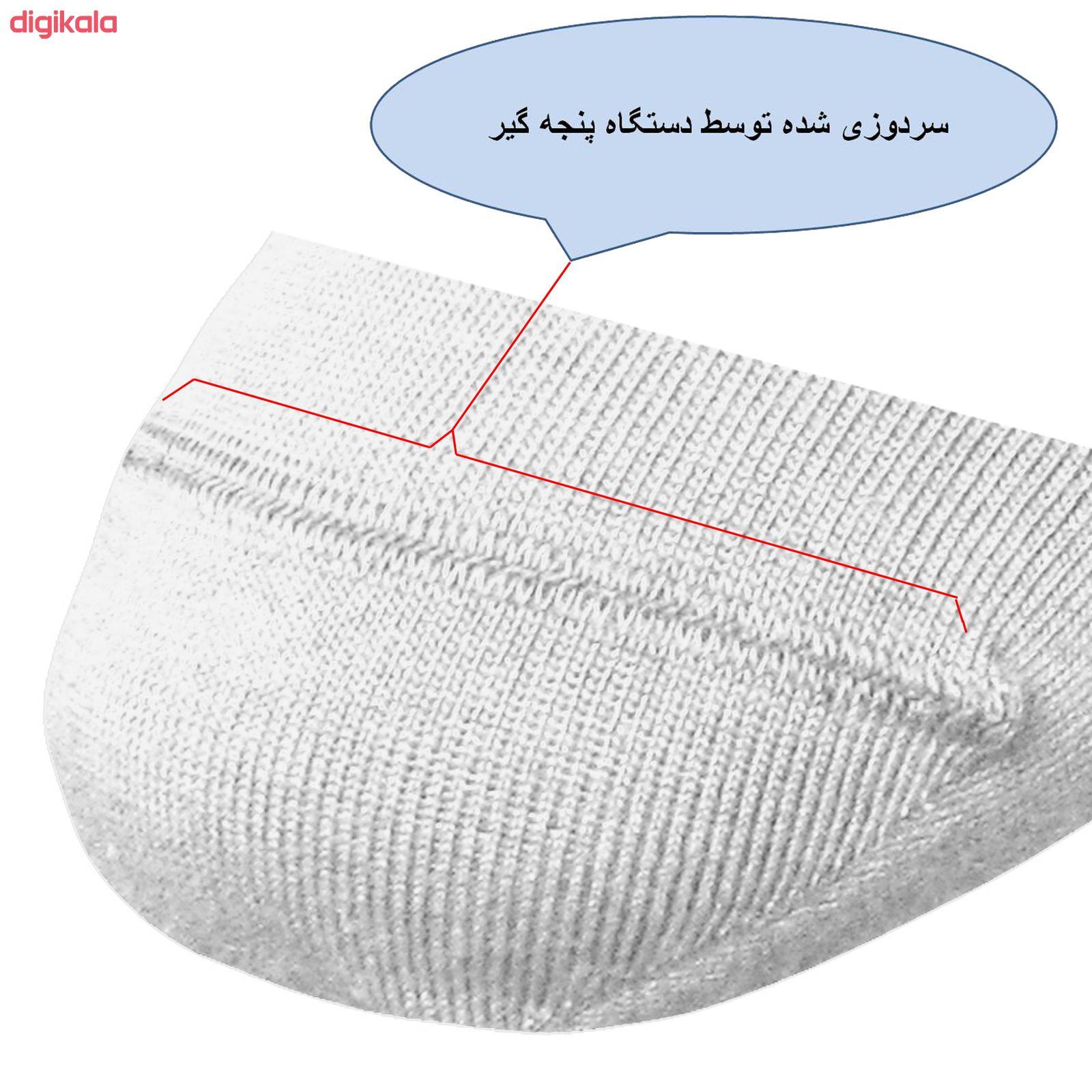جوراب زنانه ونوس کد SP 7-10 رنگ سفید main 1 2