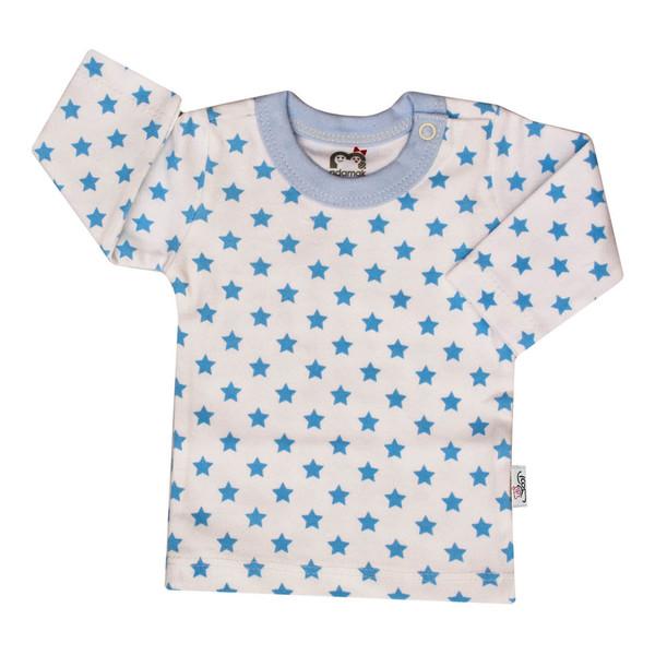 تی شرت آستین بلند نوزادی آدمک طرح ستاره رنگ آبی