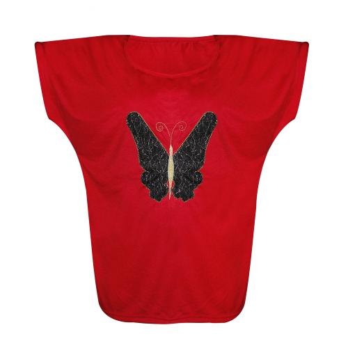 تی شرت زنانه طرح پروانه کد 0012
