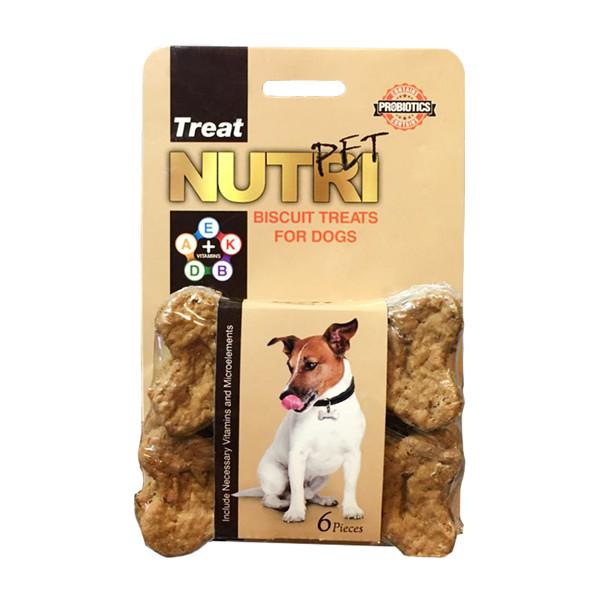 تشویقی سگ نوتری پت مدل Biscuit Treats وزن 135 گرم بسته 6 عددی