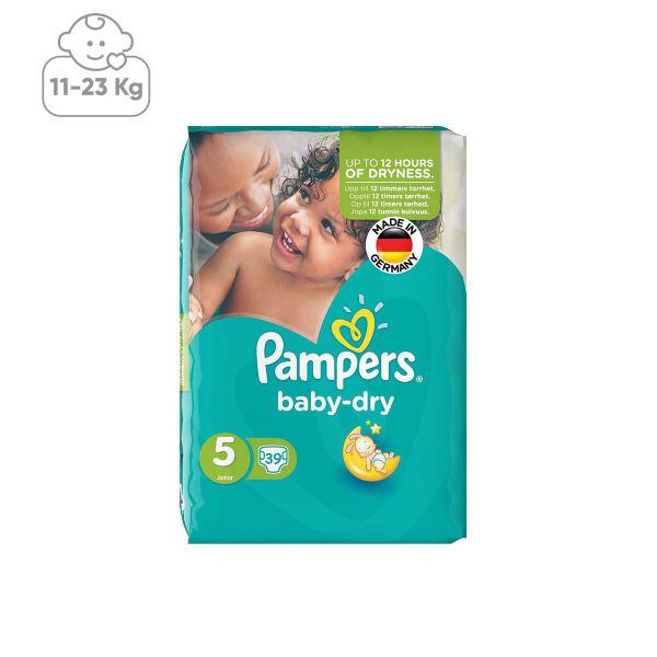 پوشک پمپرز مدل Baby Dry سایز 5 بسته 39 عددی