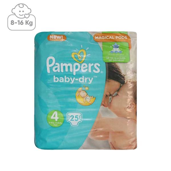 پوشک پمپرز مدل Baby Dry سایز 4 بسته 25 عددی