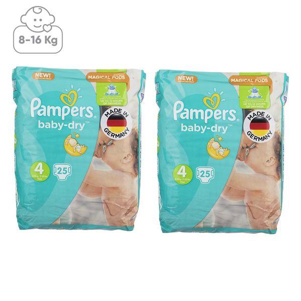 پوشک پمپرز مدل New Baby Dry سایز 4 بسته 25 × 2 عددی