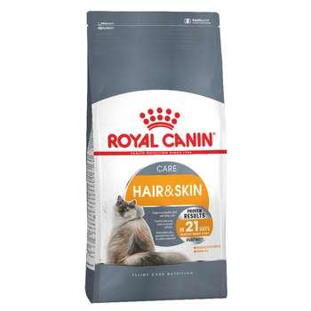 غذای خشک گربه رویال کنین مدل Hair and Skin وزن ۲ کیلوگرم
