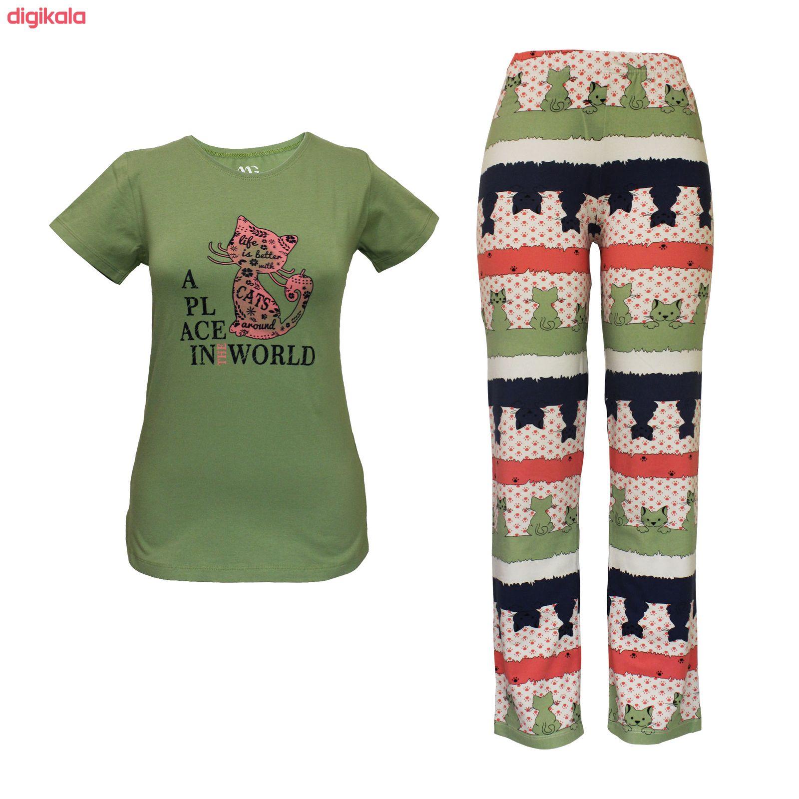 ست تی شرت و شلوار زنانه مدل PWG 001 main 1 3
