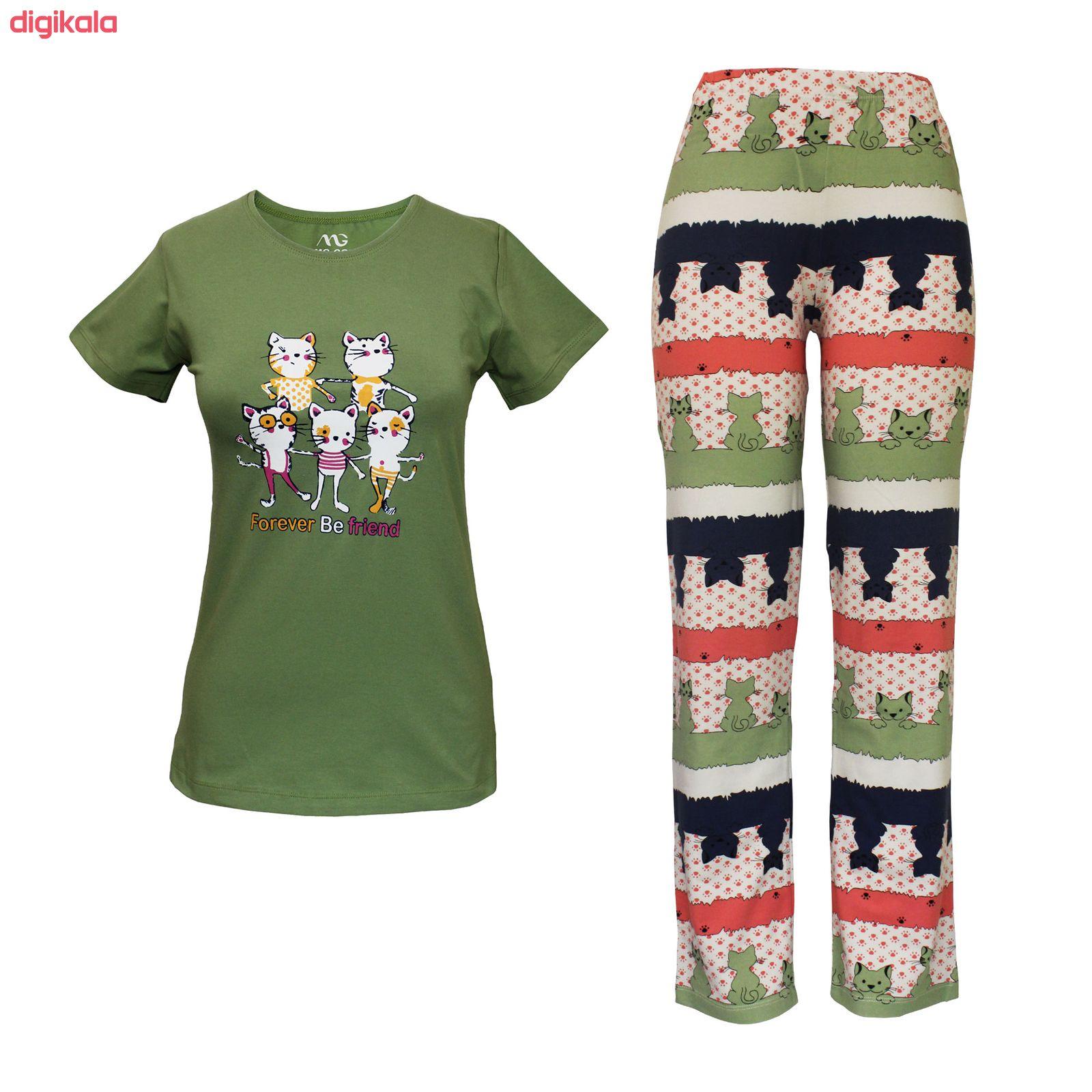 ست تی شرت و شلوار زنانه مدل FBFG 001 main 1 3