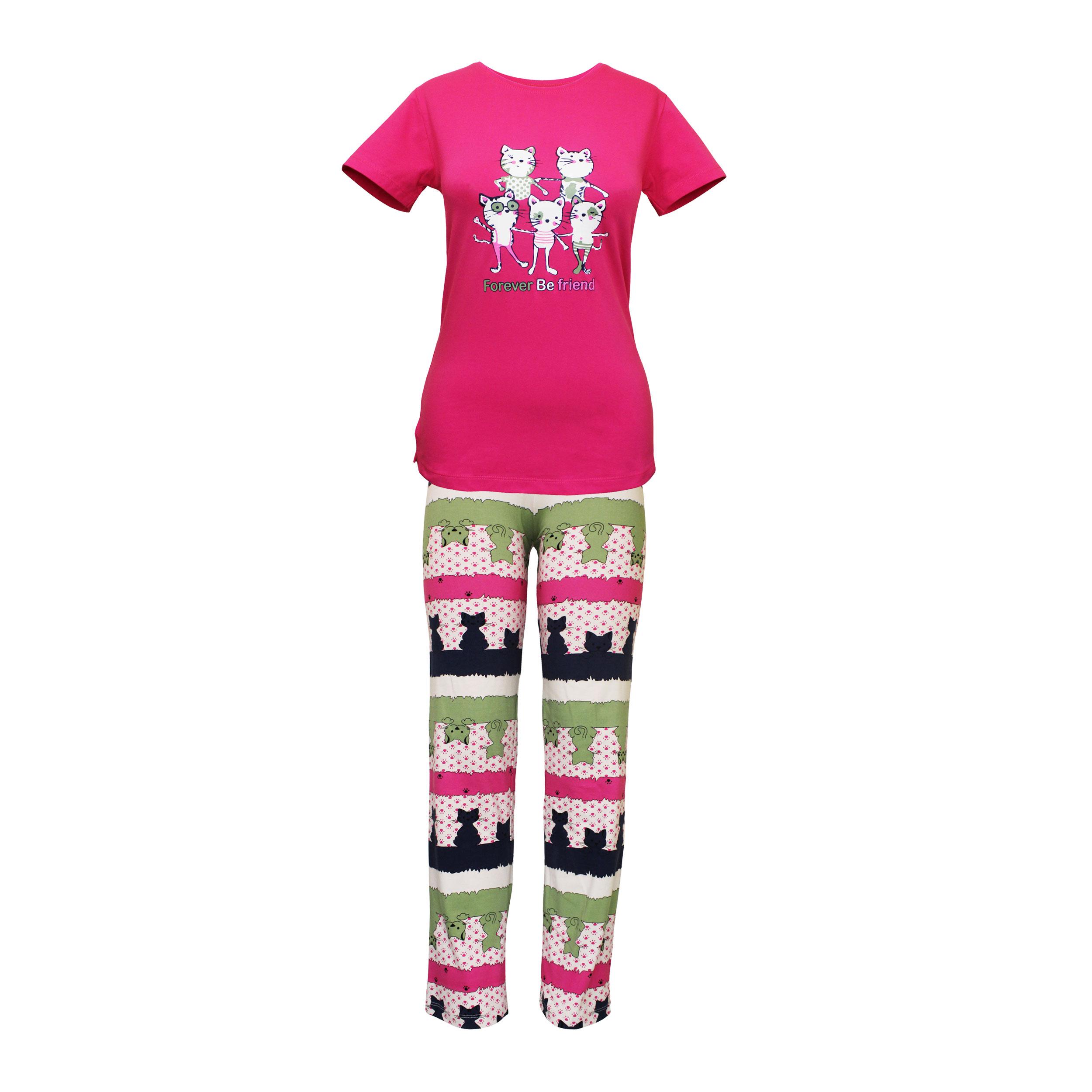 ست تی شرت و شلوار زنانه مدل FBFM 001