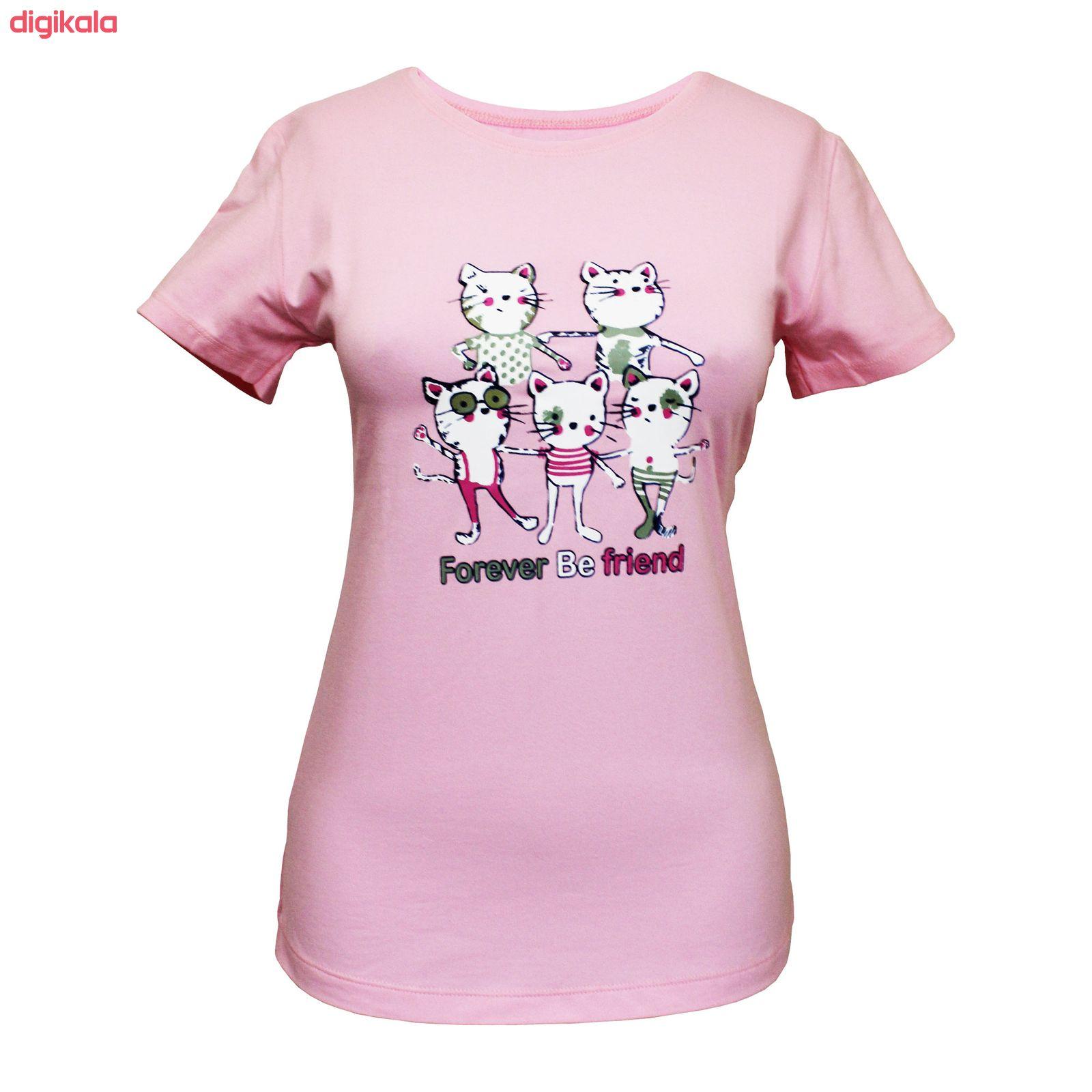 ست تی شرت و شلوار زنانه مدل FBFP 001 main 1 1