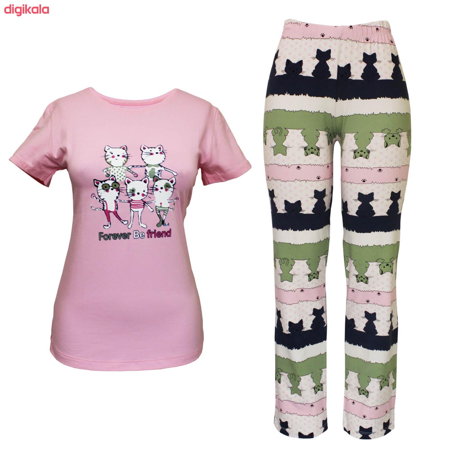 ست تی شرت و شلوار زنانه مدل FBFP 001 main 1 3