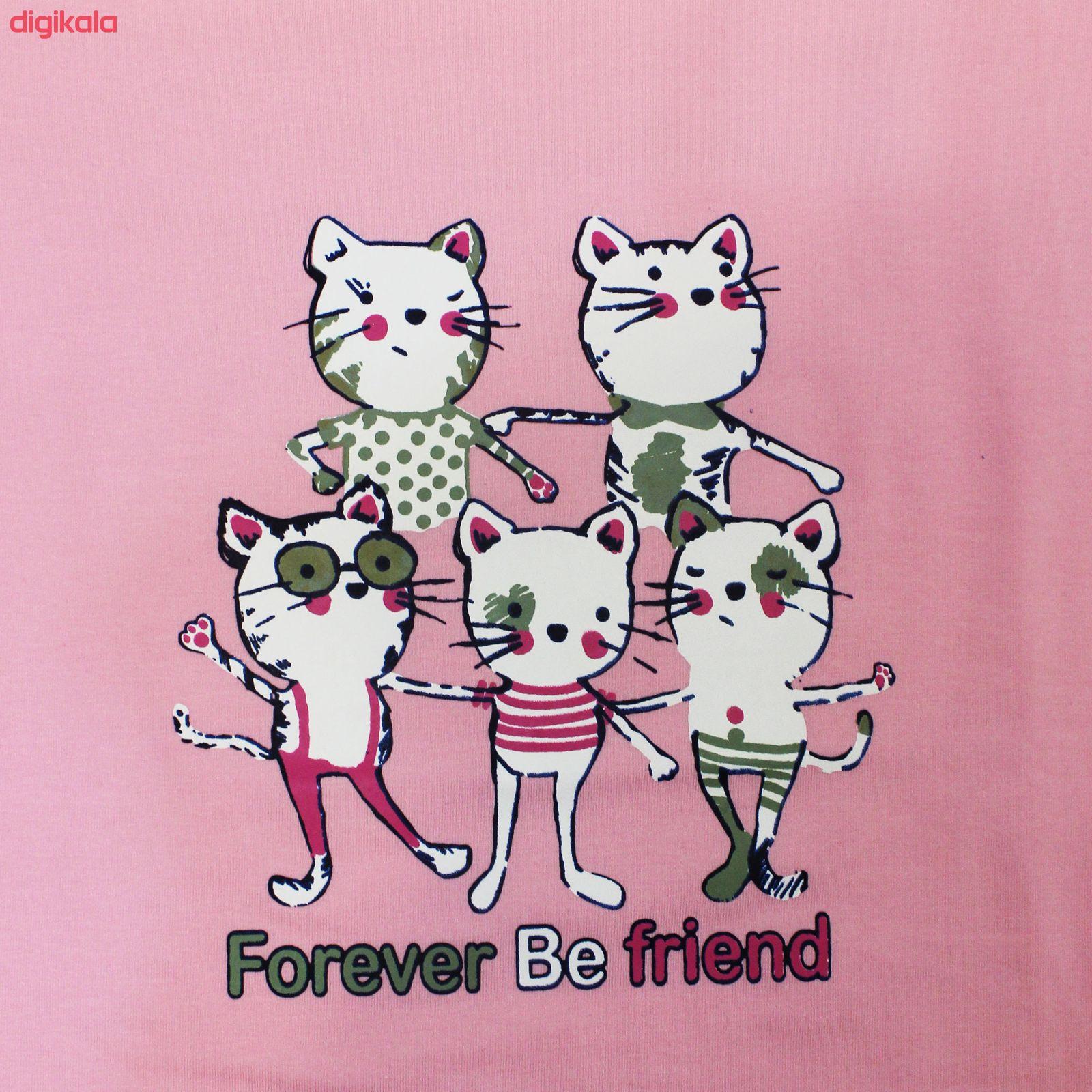 ست تی شرت و شلوار زنانه مدل FBFP 001 main 1 4