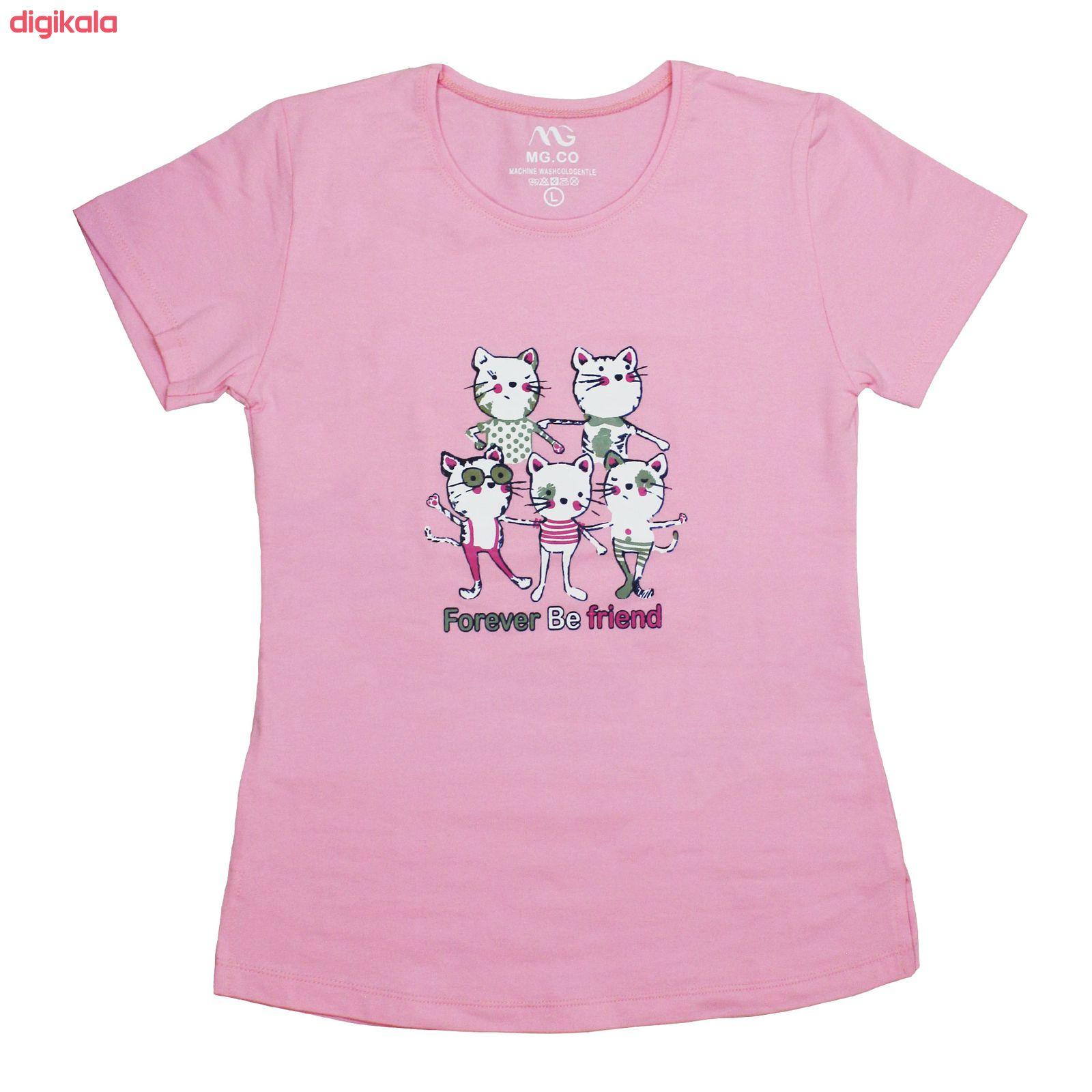 ست تی شرت و شلوار زنانه مدل FBFP 001 main 1 5