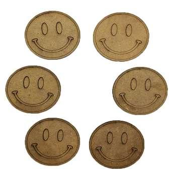 زیرلیوانی طرح لبخند کد 192 LB مجموعه 6 عددی