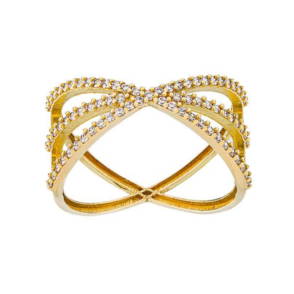 انگشتر طلا 18 عیار زنانه جواهری سون مدل 2514