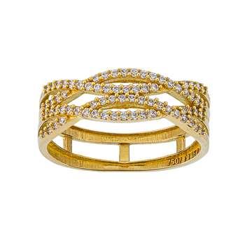 انگشتر طلا 18 عیار زنانه جواهری سون مدل 2513
