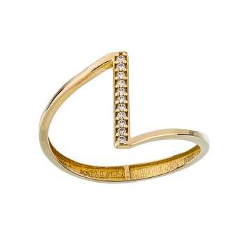 انگشتر طلا 18 عیار زنانه جواهری سون مدل 2510