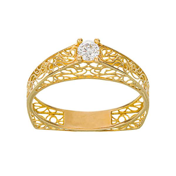 انگشتر طلا 18 عیار زنانه جواهری سون مدل 2473