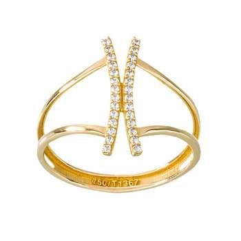انگشتر طلا 18 عیار زنانه جواهری سون مدل 2472