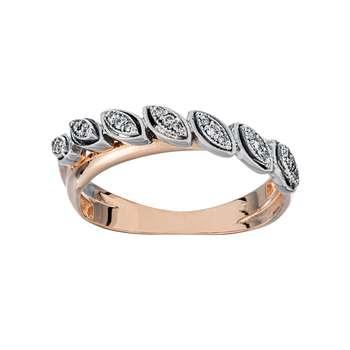 انگشتر طلا 18 عیار زنانه جواهری سون مدل 2528