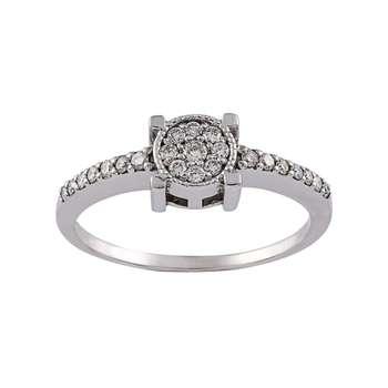 انگشتر طلا 18 عیار زنانه جواهری سون مدل 2527