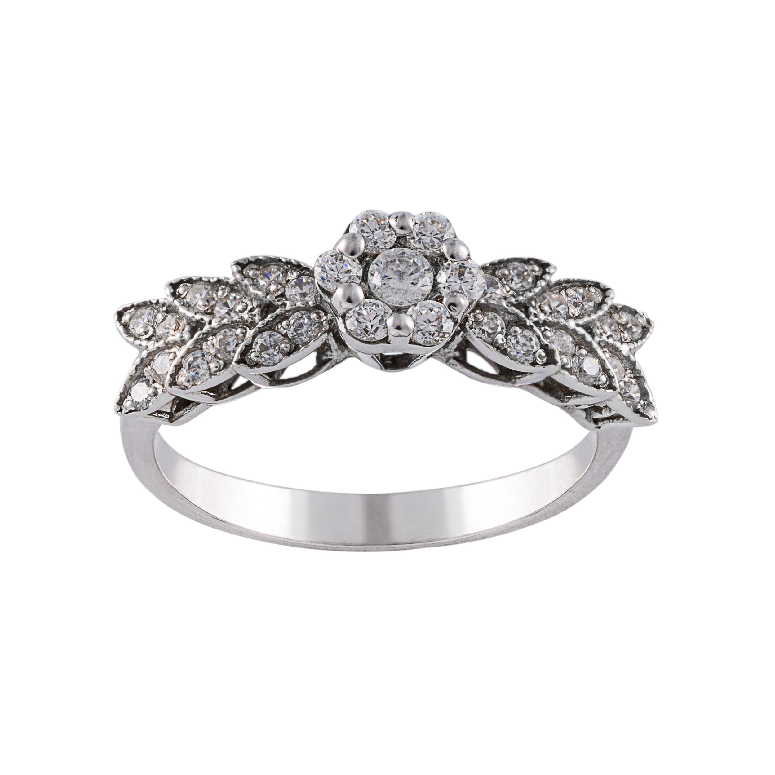 انگشتر طلا 18 عیار زنانه جواهری سون مدل 2616