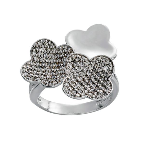 انگشتر طلا 18 عیار زنانه جواهری سون مدل 2428