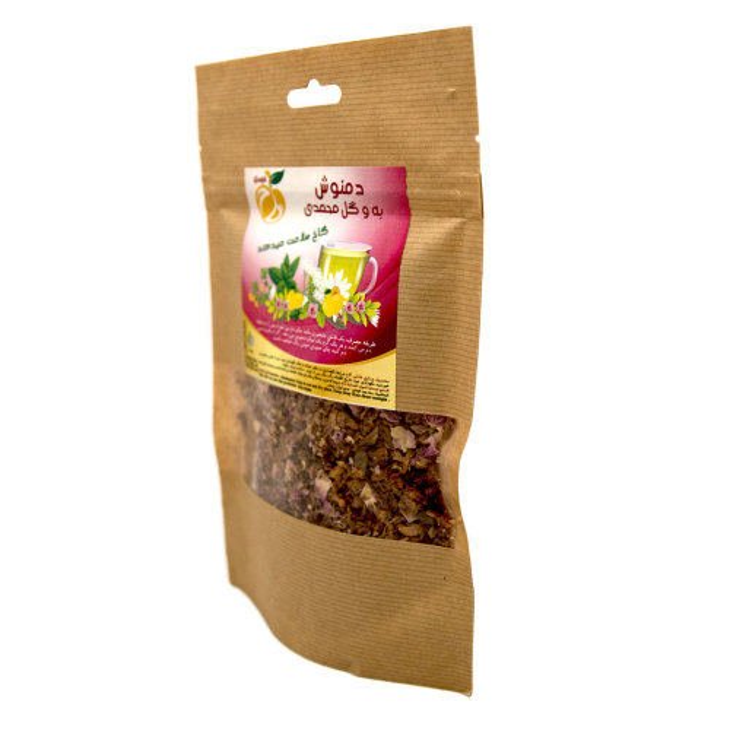 دمنوش به و گل محمدی گاخ - 100 گرم