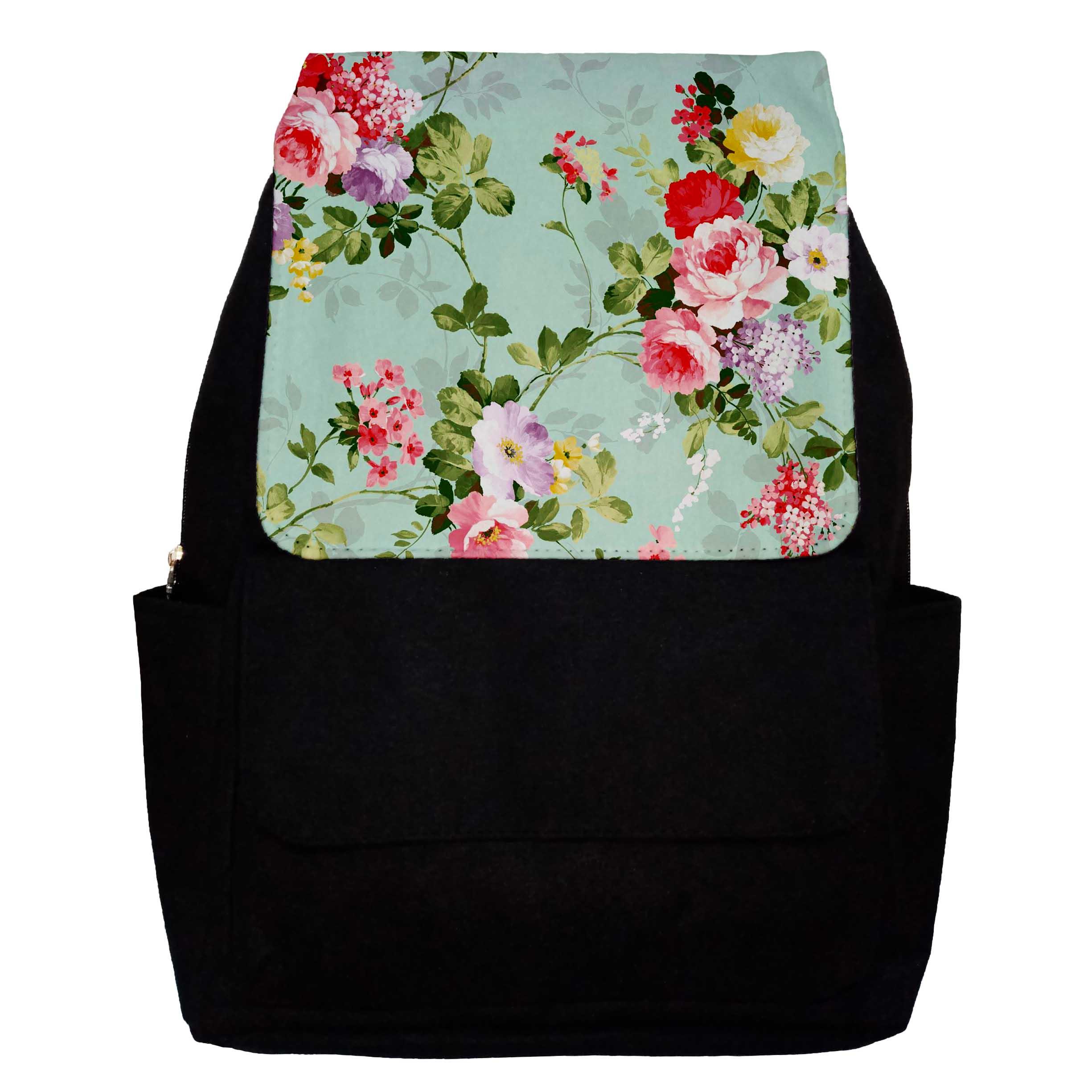 کوله پشتی دخترانه طرح Garden Flowers مدل G31