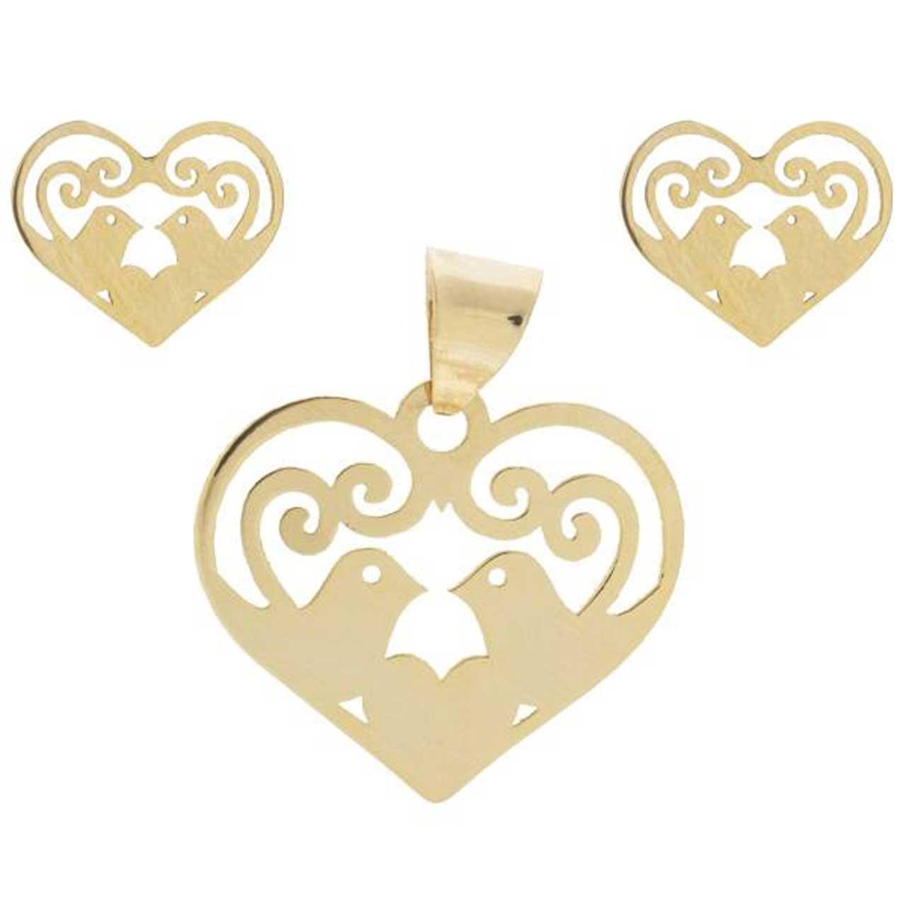 نیم ست طلا 18 عیار زنانه کانیار گالری کد NS1