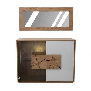 ست آینه و کنسول صنایع چوبی آذرباد مدل نهال کد K600