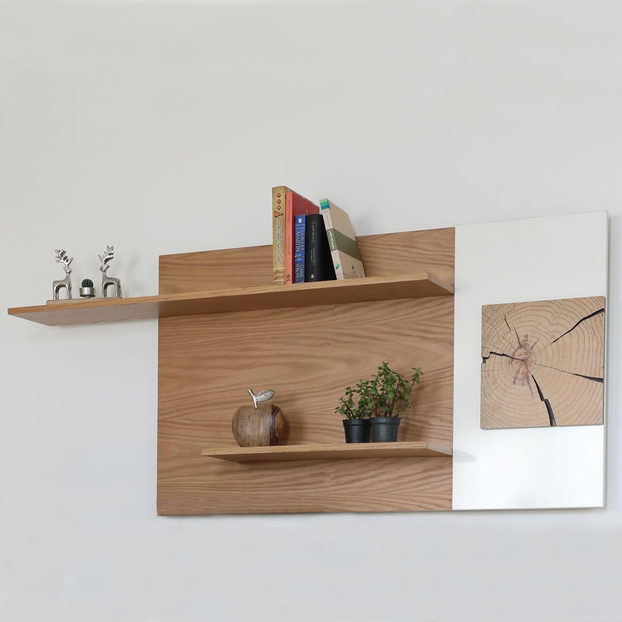 شلف دیواری صنایع چوبی آذرباد مدل نهال کد A313