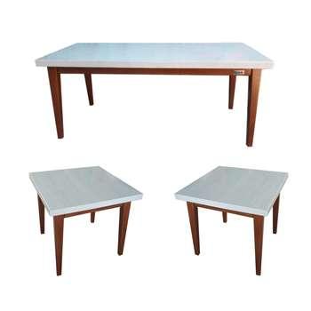 میز پذیرایی نگین چوب مدل 110 مجموعه 3 عددی