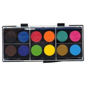 آبرنگ 12 رنگ آریا کد 2-5009